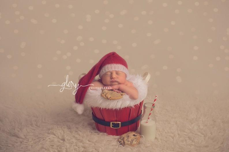 Newborn Santa photo prop outfit