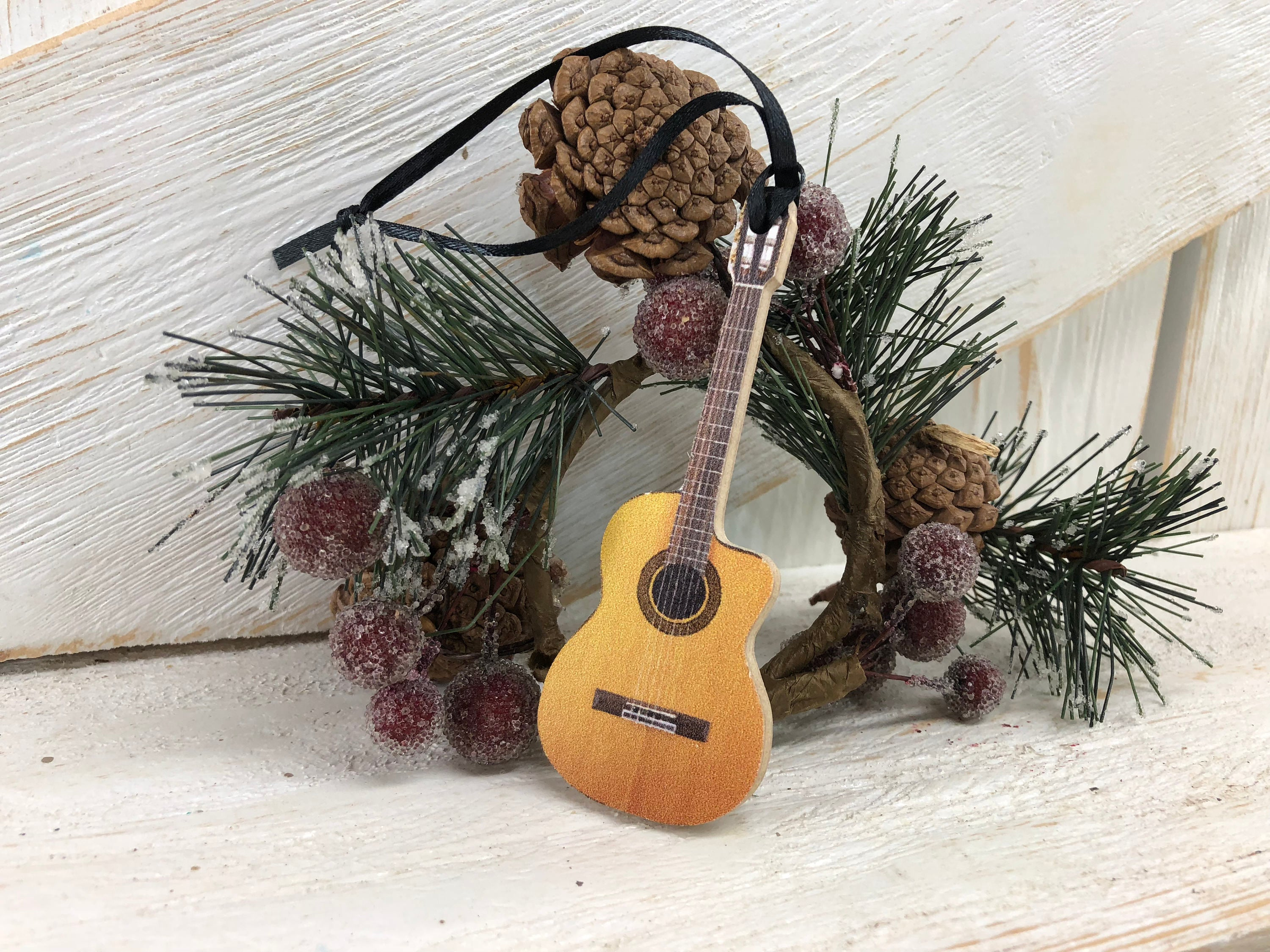 Guitar Musician Christmas Ornament / Piano / Band / musician gift / holiday / tree /