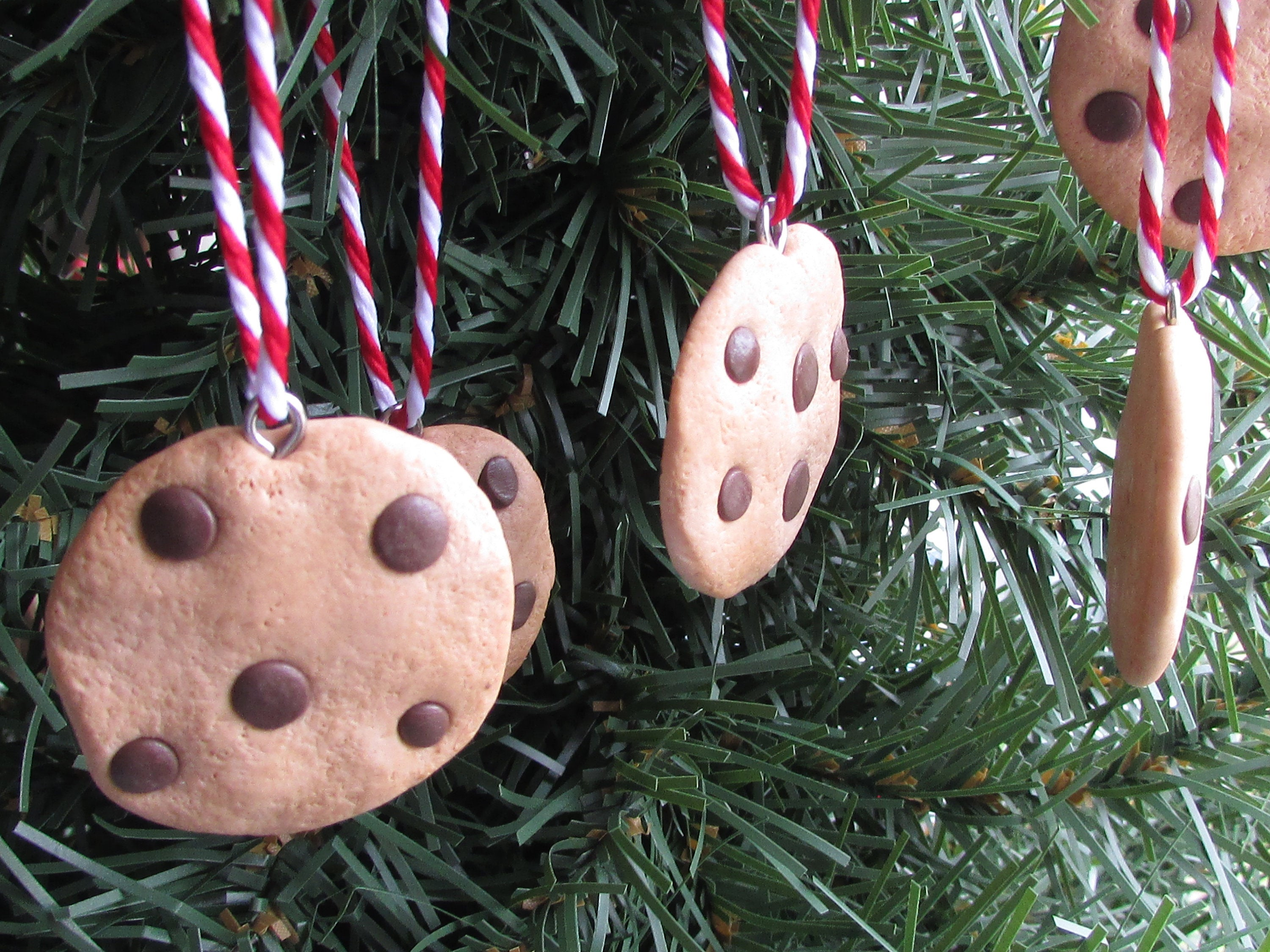 MINI Cookie Ornaments Chocolate Chip Christmas Ornament Mini Ornaments Food Ornaments Funny Ornaments Funny Food Baker Bakery Sweets Gift