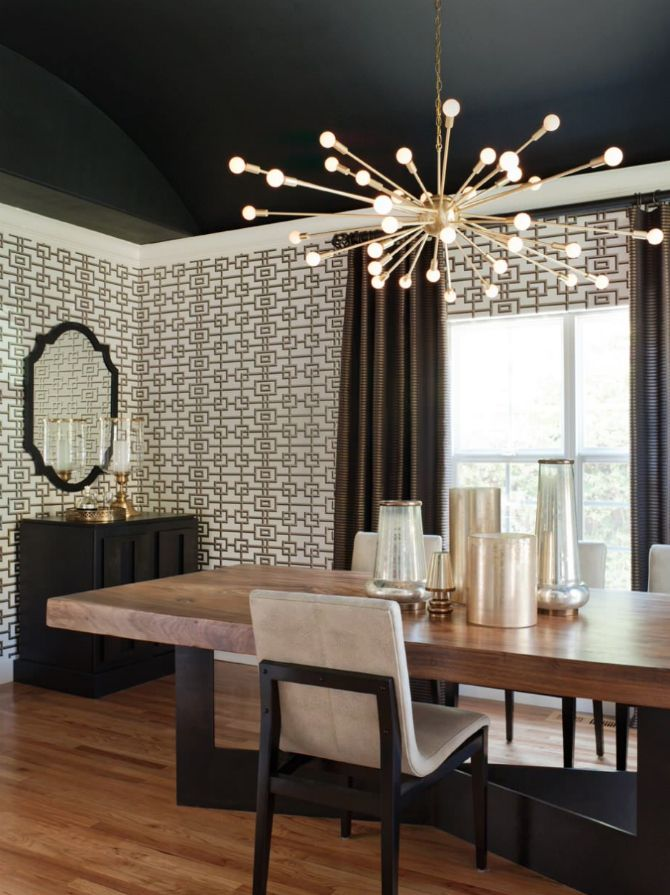 Magnify your small dining room with felicitous lighting pieces