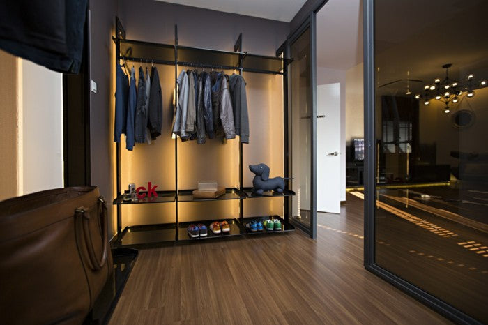 Wardrobe lighting is all about finding the perfect balance