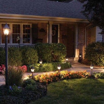 Improve the security and beauty of your front yard thorugh Landscape Lighting