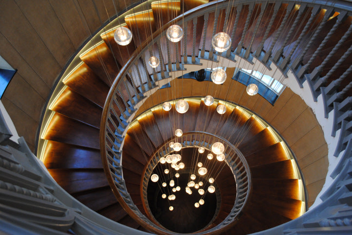 A chandelier for the staircase