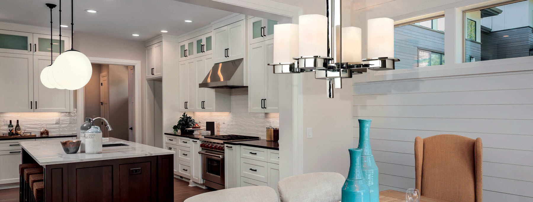 Lighting the kitchen with contemporary fixtures