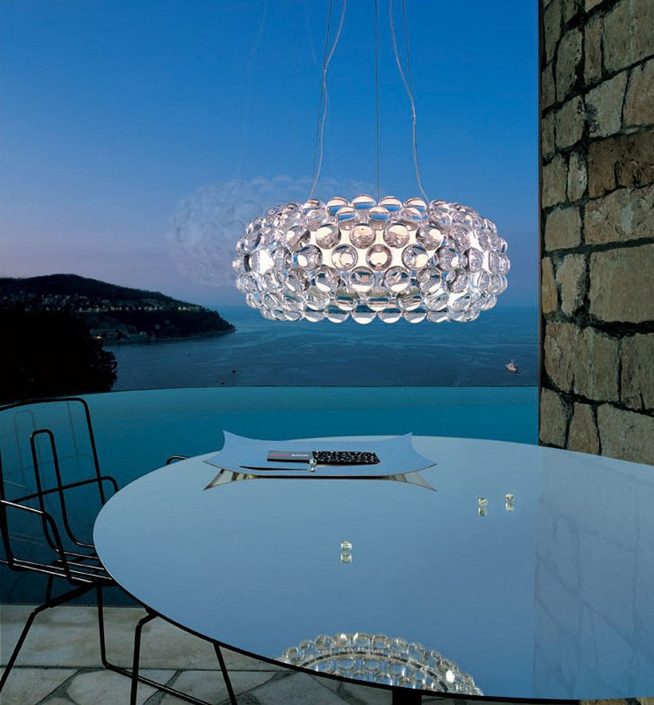 Caboche medium chandelier will add glamour and sophistication to your dining room