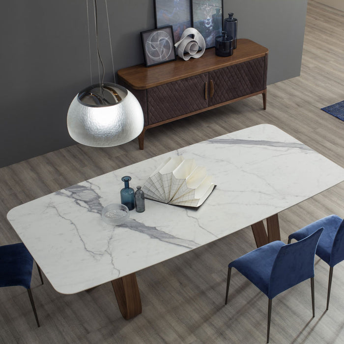 Butterfly Table, Marble Top 78-Inch from Tonin Casa | Modern Lighting + Decor
