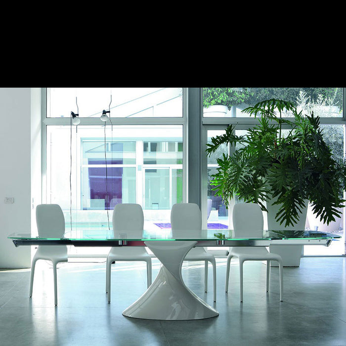 Shanghai 63 in - 94 in Extension Table from Tonin Casa | Modern Lighting + Decor