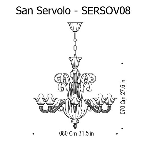 Buy online latest and high quality San Servolo Chandelier from Mazzega 1946 | Modern Lighting + Decor