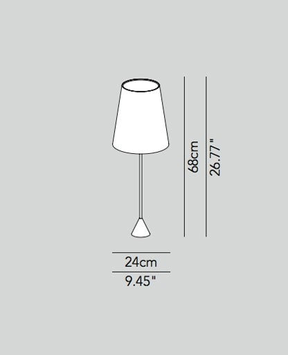 Lucilla table lamp large cotton from Modoluce | Modern Lighting + Decor