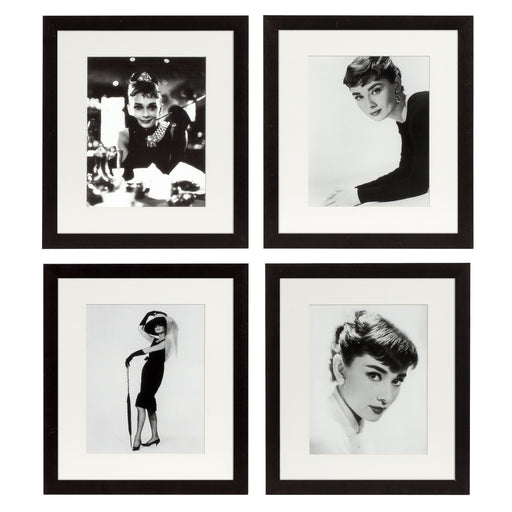 Audrey Hepburn set of 4 Prints   by Eichholtz | Modern Lighting + Decor