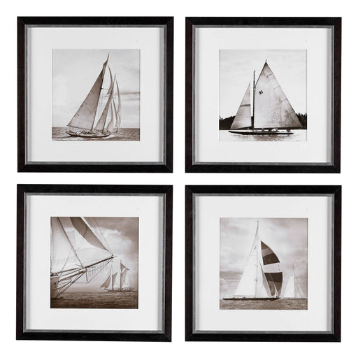 Michael Kahn Boat set of 4 Prints   by Eichholtz | Modern Lighting + Decor