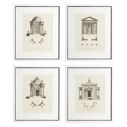 Architecture set of 4 Prints   by Eichholtz | Modern Lighting + Decor