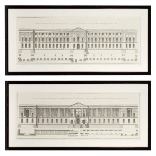 La Façade Du Louvre set of 2 Prints   by Eichholtz | Modern Lighting + Decor