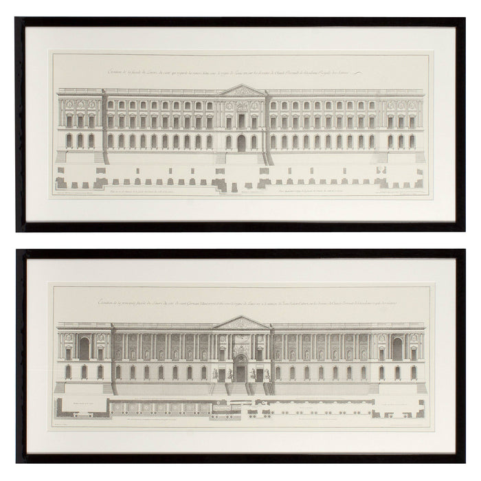 Buy online latest and high quality La Façade Du Louvre set of 2 Prints from Eichholtz | Modern Lighting + Decor