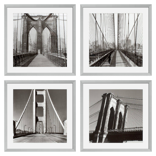 New York Bridges set of 4 Prints   by Eichholtz | Modern Lighting + Decor