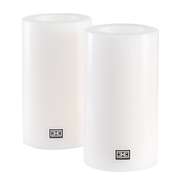 Buy online latest and high quality Artificial ø 10 x H. 18 cm set of 2 Candle from Eichholtz | Modern Lighting + Decor