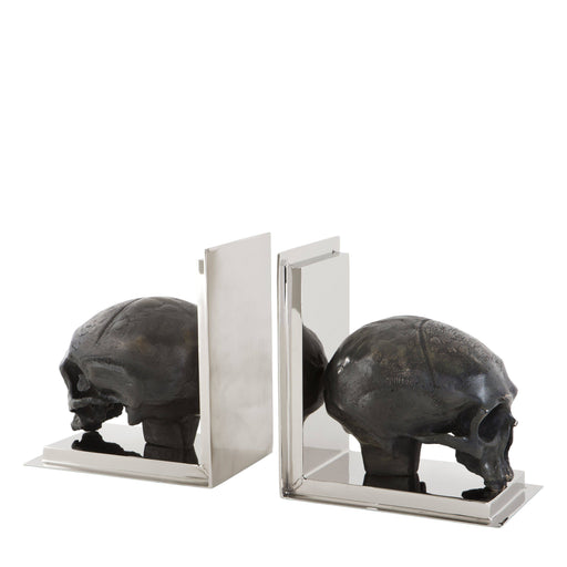 Skull set of 2 Bookend   by Eichholtz | Modern Lighting + Decor