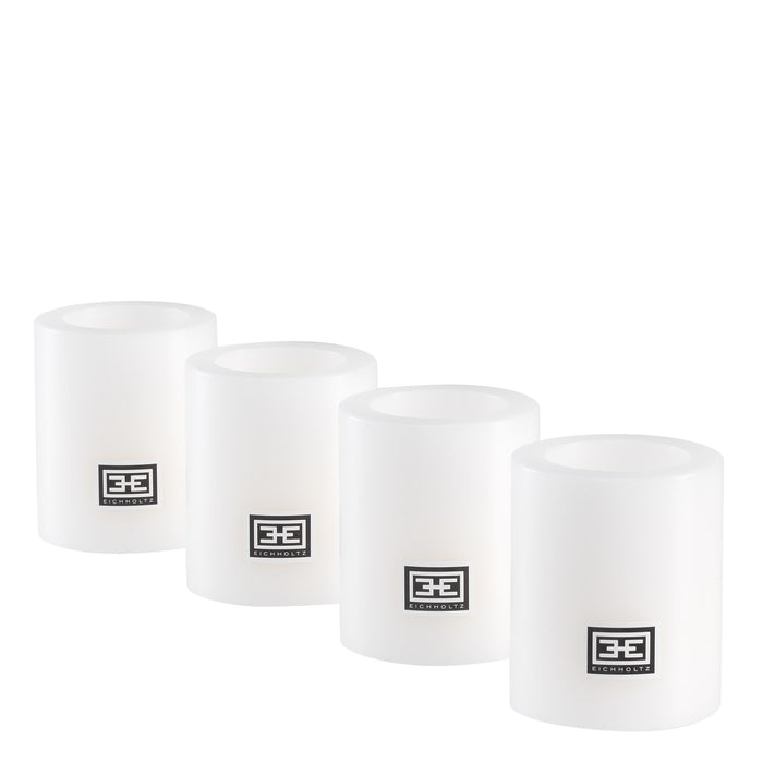 Artificial ø 6 x H. 7 cm set of 4 Candle   by Eichholtz | Modern Lighting + Decor