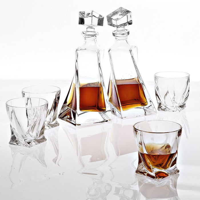 Buy online latest and high quality Sapphire set of 6 Decanter from Eichholtz | Modern Lighting + Decor