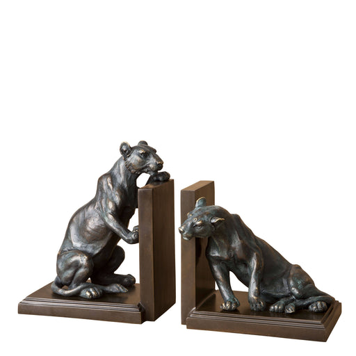 Lioness set of 2 Bookend   by Eichholtz | Modern Lighting + Decor