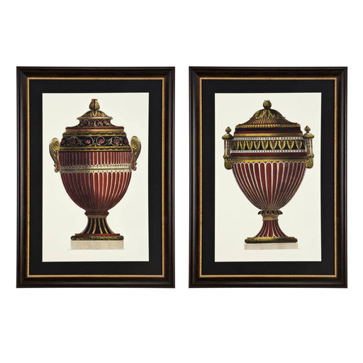Empire Urns set of 2 Prints   by Eichholtz | Modern Lighting + Decor
