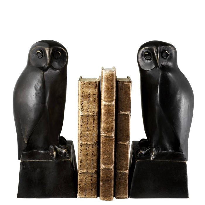 Owl set of 2 Bookend   by Eichholtz | Modern Lighting + Decor