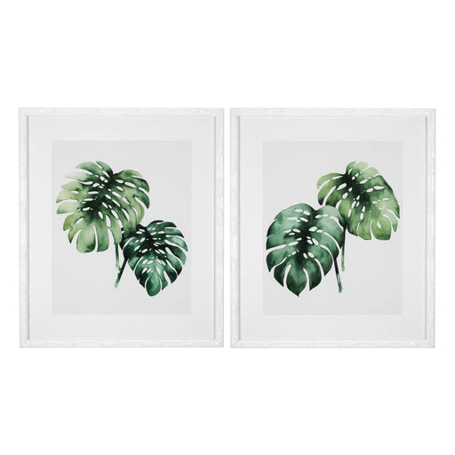 Tropical plants set of 2 Prints   by Eichholtz | Modern Lighting + Decor
