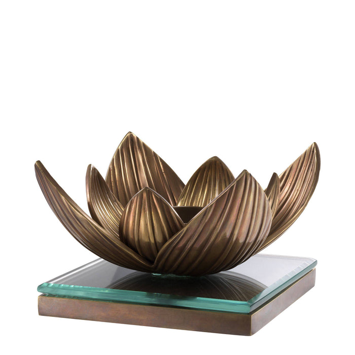 Buy online latest and high quality Tealight Lotus Holder from Eichholtz | Modern Lighting + Decor