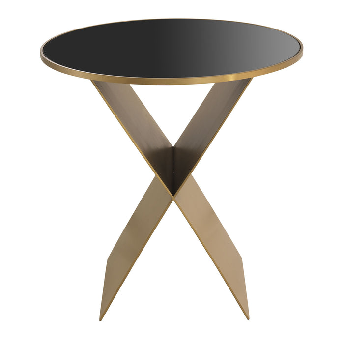 Buy online latest and high quality Round Brass X-Legged Side Table S | Eichholtz Fitch from Eichholtz | Modern Lighting + Decor