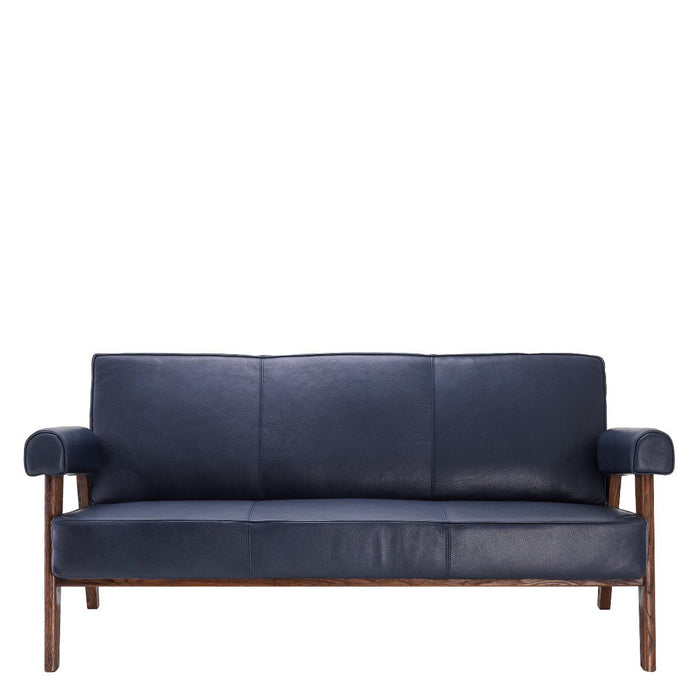Buy online latest and high quality Blue Leather Wooden Sofa | Eichholtz Milo from Eichholtz | Modern Lighting + Decor