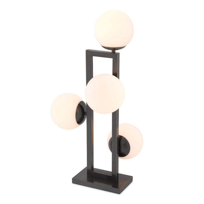 Buy online latest and high quality White Glass Globe Table Lamp | Eichholtz Pascal from Eichholtz | Modern Lighting + Decor