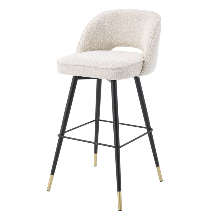 Buy online latest and high quality Bouclé Cream Barstools (2) | Eichholtz Cliff from Eichholtz | Modern Lighting + Decor