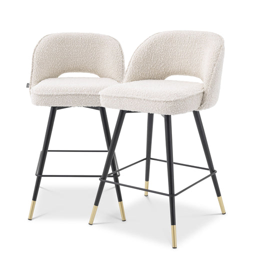 Buy online latest and high quality Bouclé Cream Counter Stools (2) | Eichholtz Cliff from Eichholtz | Modern Lighting + Decor