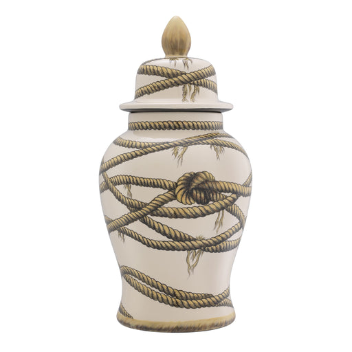 Buy online latest and high quality Rope Print Vase L | Eichholtz Hernando from Eichholtz | Modern Lighting + Decor
