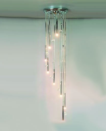 Spiral chandelier 2336/8/30 from Orion | Modern Lighting + Decor