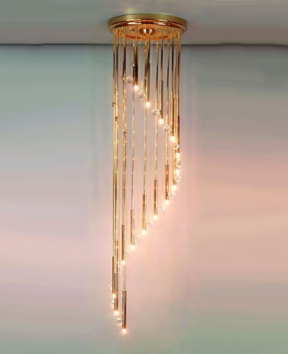 Spiral chandelier 2335/16/44 from Orion | Modern Lighting + Decor