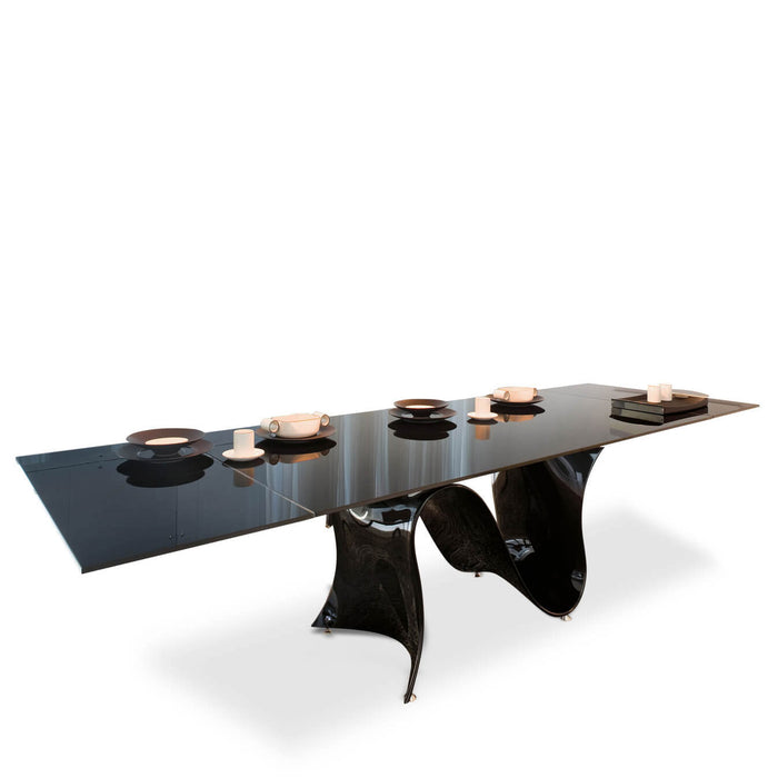Wave 78-118 inch Extension Glass Table from Tonin Casa | Modern Lighting + Decor