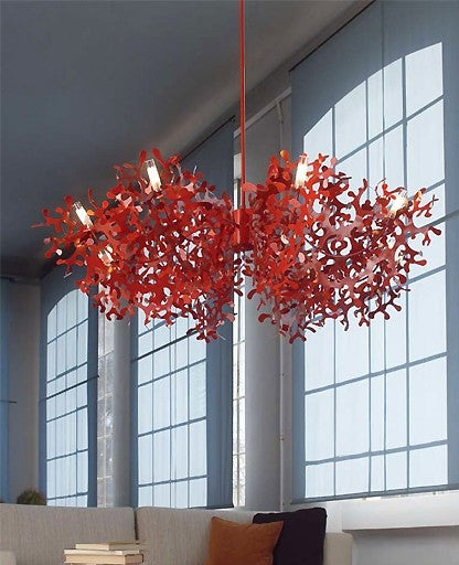 Super Coral 8L chandelier from Lumen Center Italia | Modern Lighting + Decor