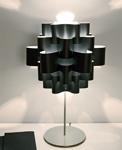 Black sun carbon table lamp from Karboxx | Modern Lighting + Decor