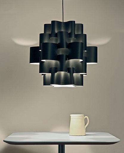 Black sun carbon pendant light from Karboxx | Modern Lighting + Decor