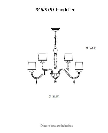 Buy online latest and high quality 346 Chandelier from ITALAMP | Modern Lighting + Decor