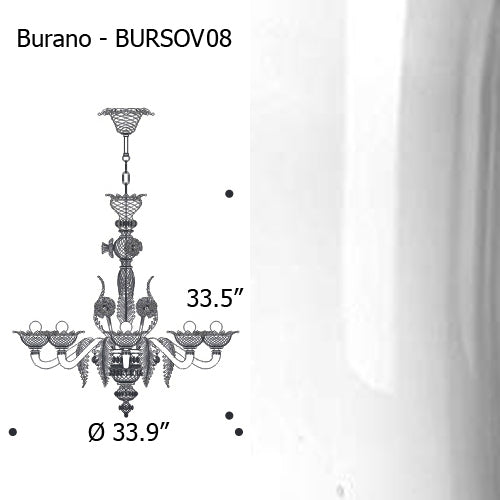 Buy online latest and high quality Burano Chandelier from Mazzega 1946 | Modern Lighting + Decor