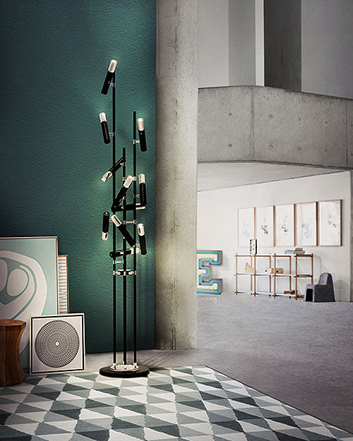 Buy online latest and high quality Ike 10 Floor Light from Delightfull | Modern Lighting + Decor