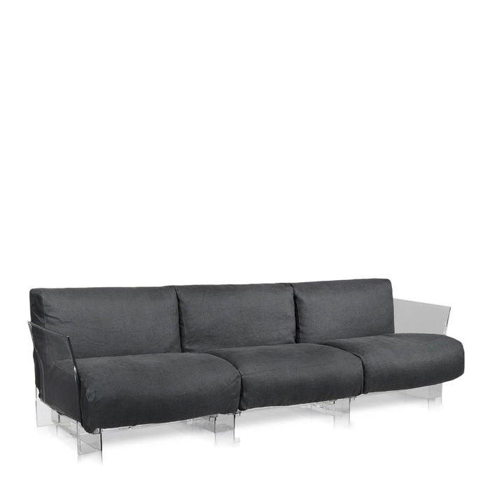 Buy online latest and high quality Pop Cotone Sofa Triple Seat With Transparent Frame from Kartell | Modern Lighting + Decor