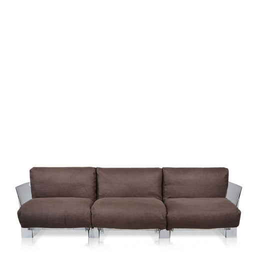 Buy online latest and high quality Pop Lino Sofa Triple Seat With Transparent Frame from Kartell | Modern Lighting + Decor