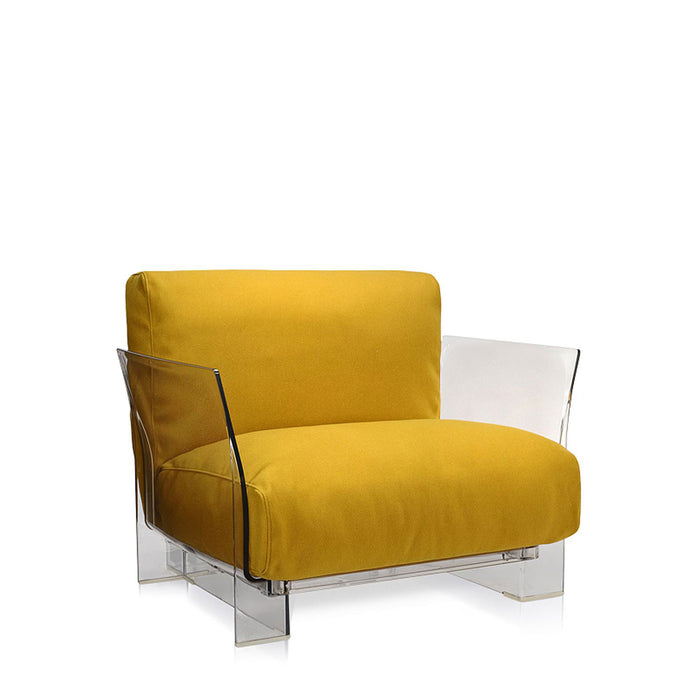 Buy online latest and high quality Pop Trevira Armchair With Transparent Frame from Kartell | Modern Lighting + Decor
