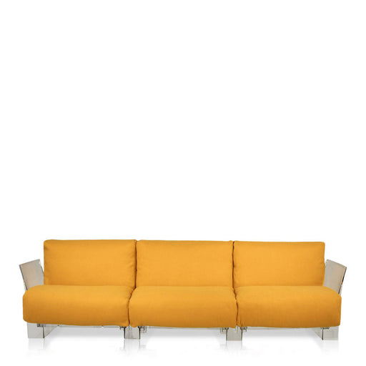 Buy online latest and high quality Pop Trevira Sofa Triple Seat With Transparent Frame from Kartell | Modern Lighting + Decor