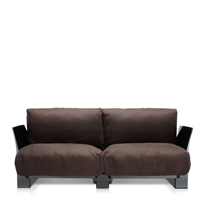 Buy online latest and high quality Pop Lino Sofa Double Seat With Black Frame from Kartell | Modern Lighting + Decor