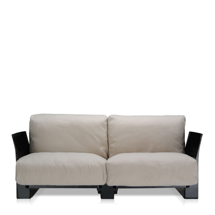 Pop Cotone Sofa Double Seat With Black Frame from Kartell | Modern Lighting + Decor