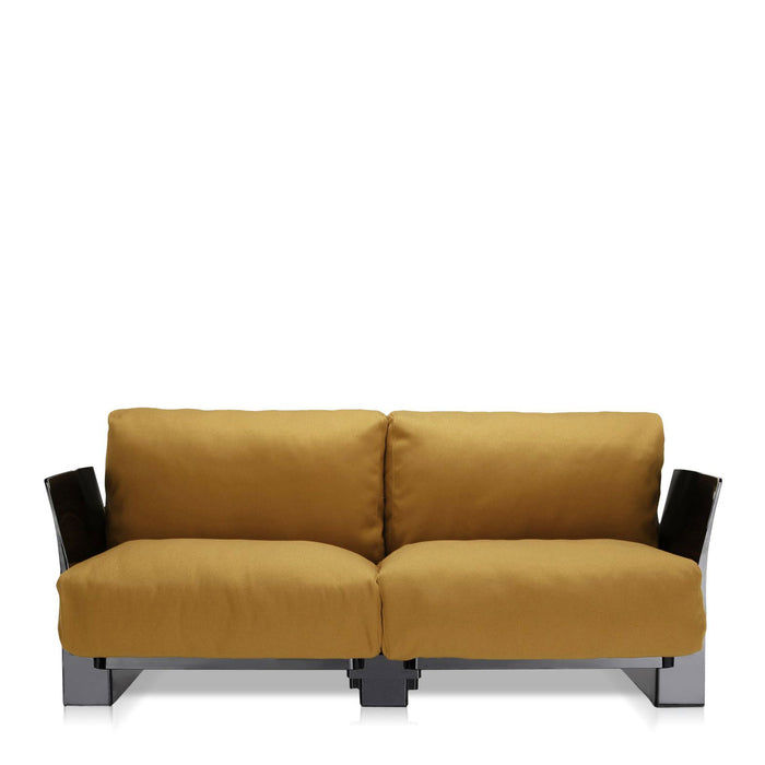 Pop Trevira Sofa Double Seat With Black Frame from Kartell | Modern Lighting + Decor